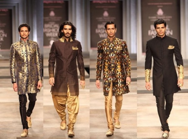 Different styles and types of sherwani